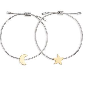 Madewell set of 2 friendship bracelets moon & star